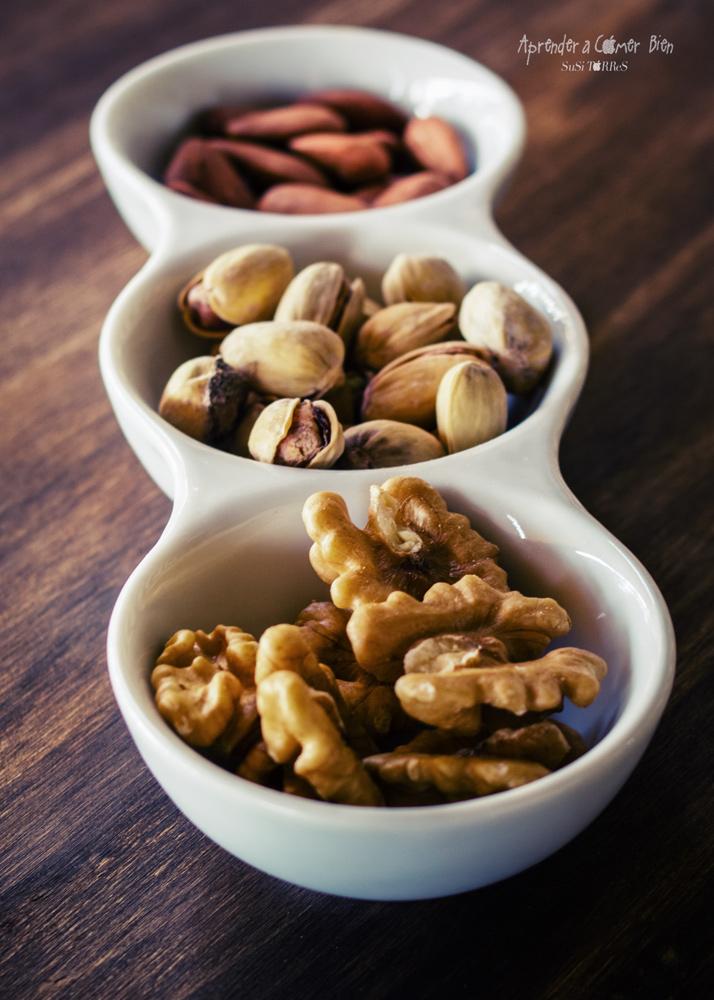 Frutos secos, contienen proteinas y grasas saludables
