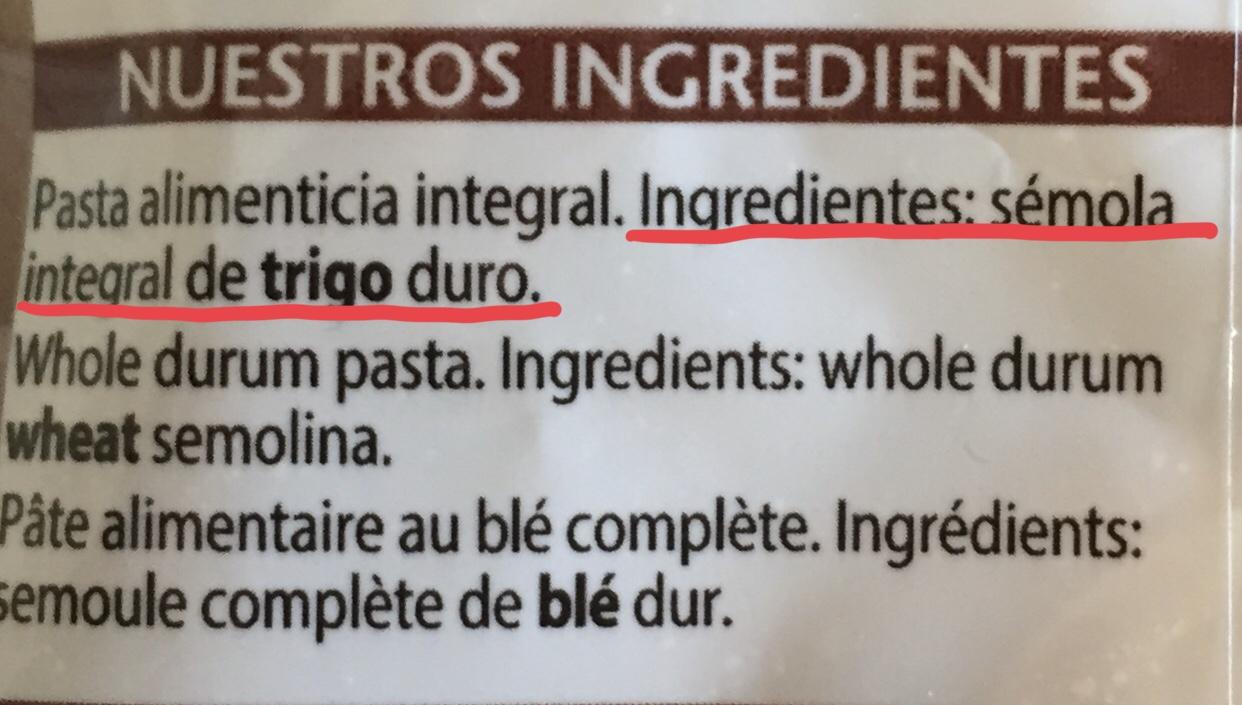 comprobar listado de ingredientes
