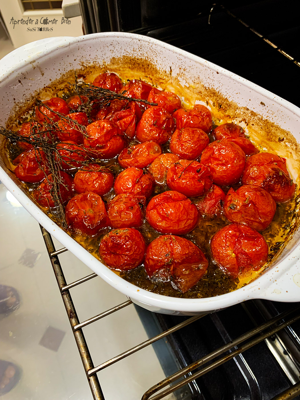 Receta rápida de Tomates Cherry Aromatizados